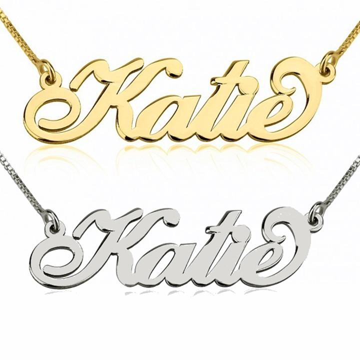 681bfe622f6c Collar Carrie en Oro de 14K Amarillo o Blanco - Joyería personalizada -  Joyas personalizadas
