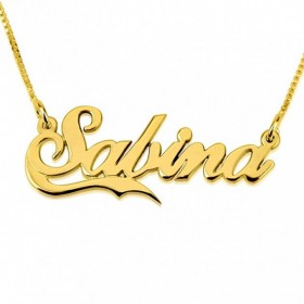 Collar Small Line con Nombre
