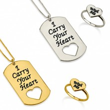 "Conjunto para parejas ""I carry your heart with me"" en Tres Acabados"