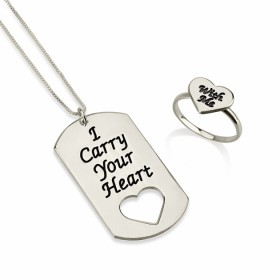 "Conjunto ""I carry your heart with me"" en Plata de Ley"